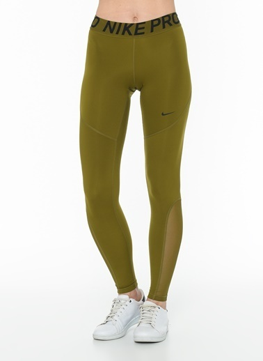 Nike Nike AO9968368 W Np Tıght Olive Flak Black Tayt Yeşil
